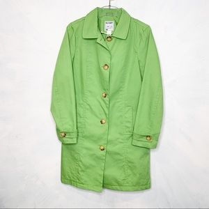 Old Navy Cotton Trench Coat Pistachio Green